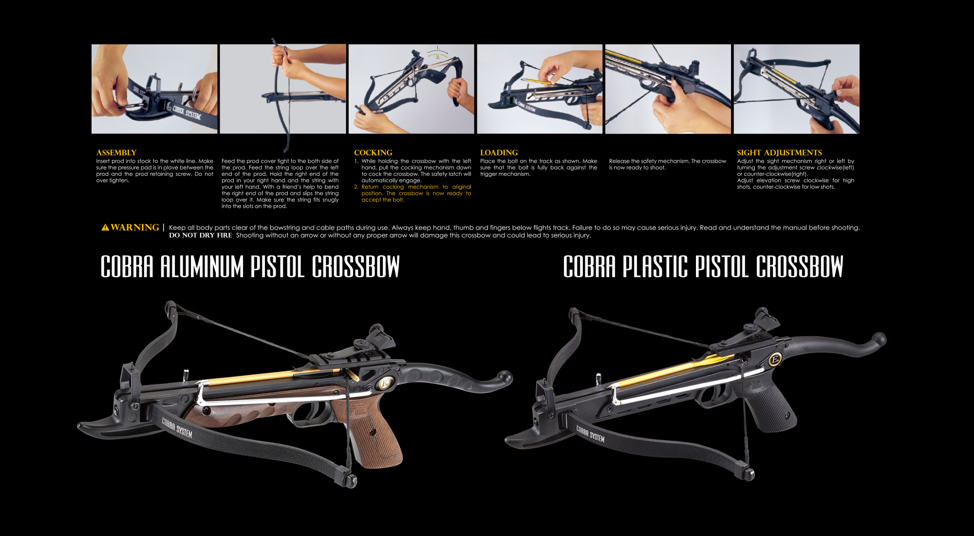 PISTOL CROSSBOW MANUAL